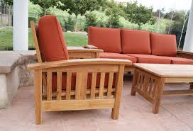 mission style sofa set by classic teak