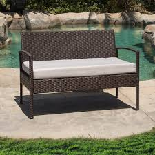 Wicker Loveseat Replacement Cushions Blazing Needles X In Outdoor Patio Bench Swing Cushion Images On