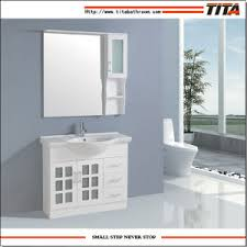 Frosted Glass Bathroom Cabinet by China 2016 High Gloss White Mdf Bathroom Furniture Frosted Glass