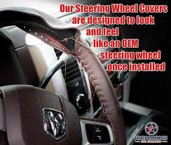 Steering Wheel Upholstery 1999 Dodge Ram 1500 2500 3500 Black Leather Steering Wheel Cover