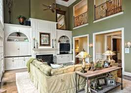 Decorating Ideas For Living Rooms With High Ceilings High Ceilings Built In Media Living Room Home Design Exles
