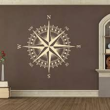compass rose with stars vinyl wall or ceiling decal nautical compass rose with stars vinyl wall or ceiling decal nautical nursery room k625 in home