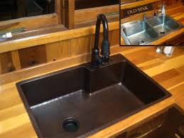elegant 1 kitchen with copper sink on farm front kitchen sinks