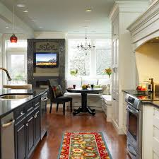 breakfast nook bench seating kitchen traditional with white wood