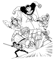 justice league coloring pages printable get coloring pages