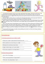 eat healthy food worksheet free esl printable worksheets made