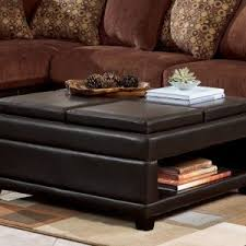 charming large square leather ottoman designs for your living room