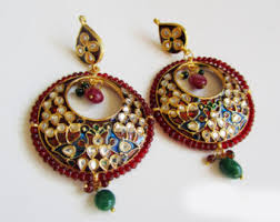 chandbali earrings chand bali earrings etsy