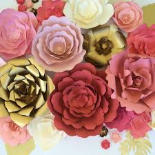 Flower Backdrop Large Paper Flower Backdrop For Weddings Baby Showers Or Events