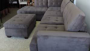 Gray Sectional Sleeper Sofa Alenya 3 Sectional Quartz Fabric Reclining Sectional Grey