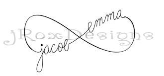 nice black ink stencil of infinity jacob emme tattoo golfian com