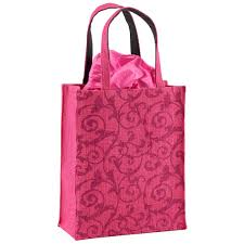cloth gift bags magenta floral gift bag by illumen