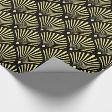deco wrapping paper deco wrapping paper zazzle gray gold black and