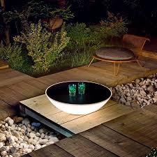 Patio Table Lights Solar Powered Garden Table L L Design Ideas