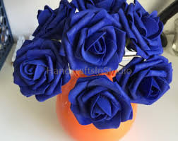 blue flowers for wedding cobalt blue wedding etsy