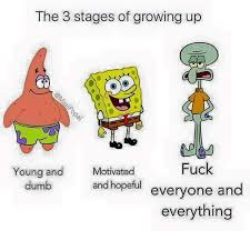 Fuck Everything Meme - the older i get the more i understand squidward imgur
