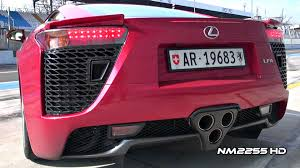 lexus lfa modified lexus lfa v10 exhaust revs amazing sound youtube