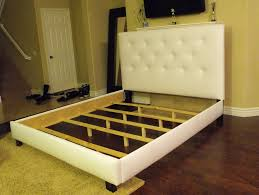 How To Make Bed Frame How To Make An Upholstered Headboard Attached To Bed Frame Home