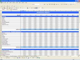 Budget Calculator Excel Spreadsheet Household Budget Excel Templates