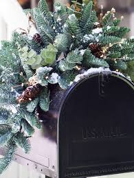 mountain meadow christmas mailbox swag balsam hill