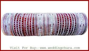 wedding chura with name diamond bridal maroon chura available size in 2 6 designer