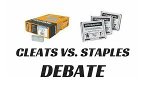weighing in on the great cleats vs staples debate city floor