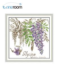 wisteria home decor online get cheap kit flower cross stitch kit aliexpress com