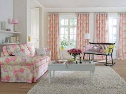 Pink Flower Curtains Living Room Ideas Floral Living Room Furniture Traditional