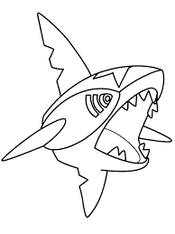 pokemon coloring pages totodile sharpedo pokemon coloring page pages coloriage mega fashionzen info