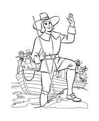 william bradford leader of pilgrim thanksgiving day origin coloring