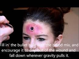 gunshot wound makeup tutorial youtube