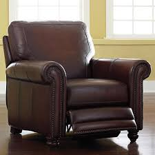 Leather Chairs For Sale Old World Brown Leather Recliner