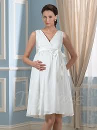 pregnancy wedding dresses v neck a line knee length maternity wedding dress tbdress