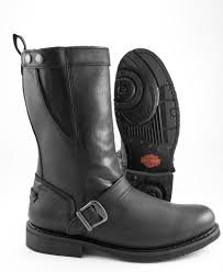 womens motorcycle boots size 11 harley davidson bill steel toe side zipper harness motorcycle boot