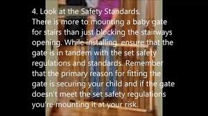10 tips for hardware mounting a top of stair baby gate youtube