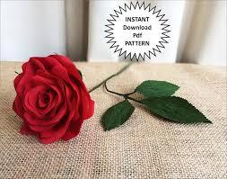 paper roses pdf pattern diy paper roses crepe paper roses paper flowers diy