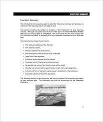 one page executive summary template 31 executive summary