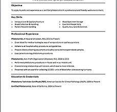 Phlebotomy Resume Sample by Phlebotomy Resume Sample Resume Cv Cover Letter