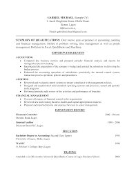 Junior Accountant Resume Sample example of a resume for first job resume format for job
