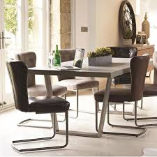 Silver Dining Room Set by Baker Petra Dining Table U0026 6 Oscar Silver Dining Chairs