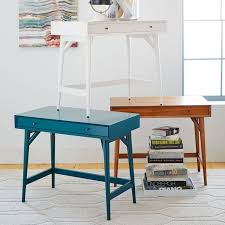 Small Desks For Small Spaces Mid Century Mini Desk U2013 White West Elm