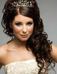 curly hairstyle for weddings long hair curly wedding prom