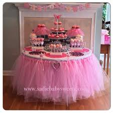 princess baby shower decorations baby shower princess theme ideas pink organza food table decoration