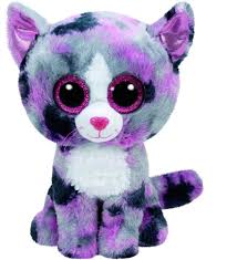 toys product detail lindi grey u0026 pink cat beanie boo small