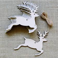 10pcs deer ornament small hanging pendant decoration