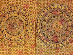 wood brown elephant mandala curtain panels 2 cotton indian
