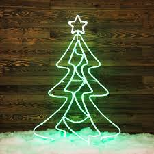 shop ge 5 ft freestanding tree with constant green led lights at