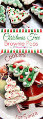 christmas tree brownie pops fudgy brownies tangy cream cheese