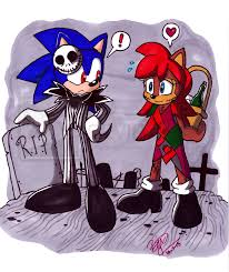 the nightmare before christmas sonic and sally by ninjahaku21 on