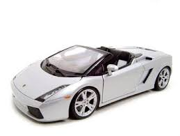 lamborghini diecast model cars amazon com lamborghini gallardo spyder silver diecast model 1 18